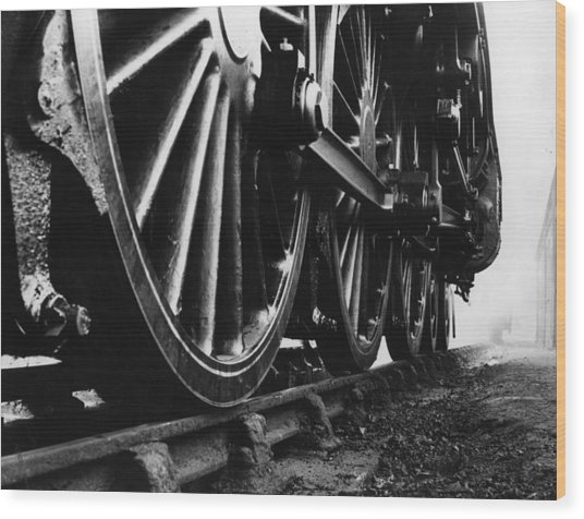 Engine Wheels Wood Print by Fox Photos