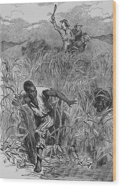 Engraving Of Slave Escape, Mid-19th Wood Print by Kean Collection