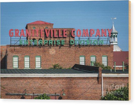 Enterprise Mill - Graniteville Company - Augusta Ga 1 Wood Print