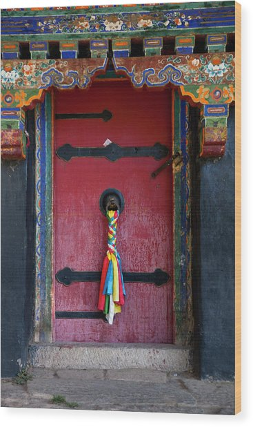 Entrance To The Tibetan Monastery Wood Print by Hanhanpeggy