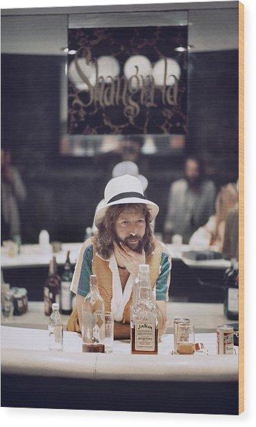Eric Clapton In The Studio Wood Print by Ed Caraeff/morgan Media