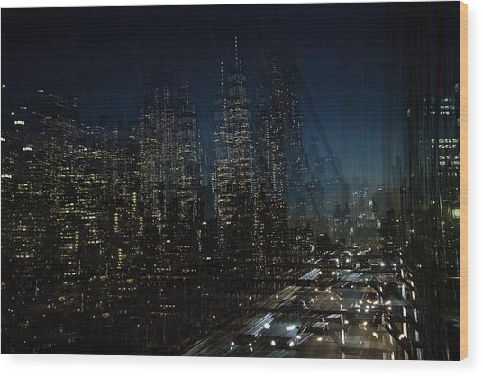 Escape From New York Wood Print