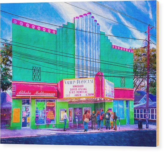 Wood Print featuring the photograph Evening At The Variety Playhouse - Atlanta by Mark E Tisdale