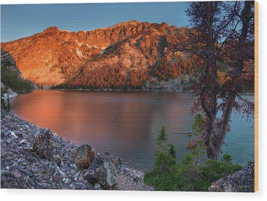 Everson Lake Wood Print by Leland D Howard
