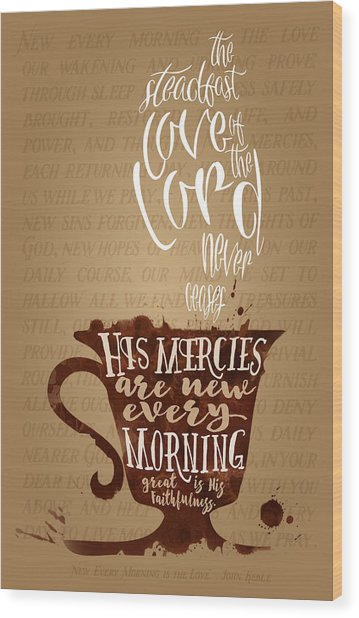 Wood Print featuring the drawing Every Morning by Clint Hansen