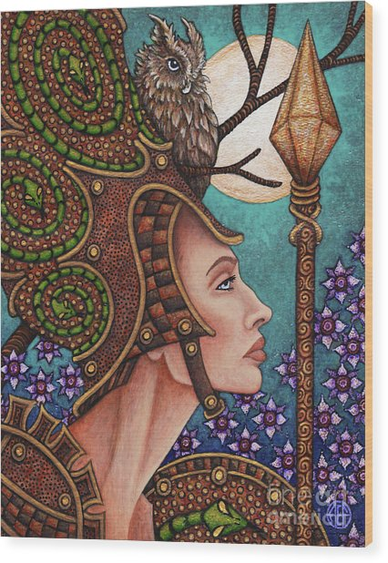Exalted Beauty Athena Wood Print