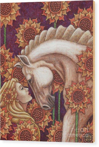 Exalted Beauty Morgan Wood Print