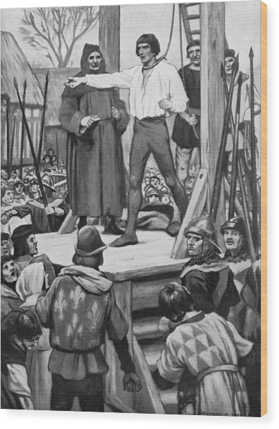 Execution Of Warbeck Wood Print by Hulton Archive