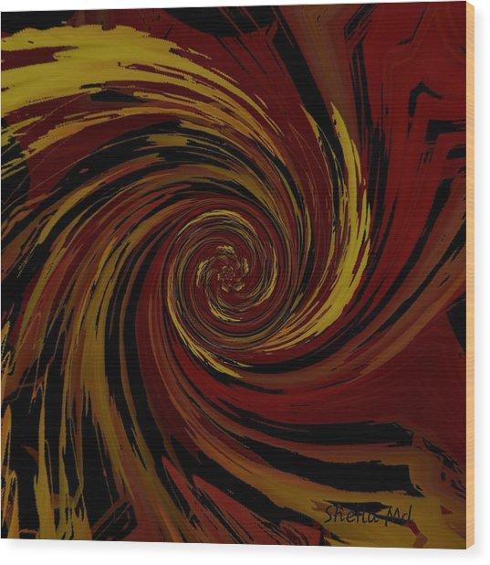 Explosion  Crossroad  Wood Print