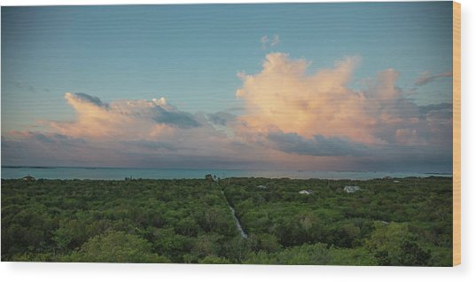 Exuma Skies Wood Print