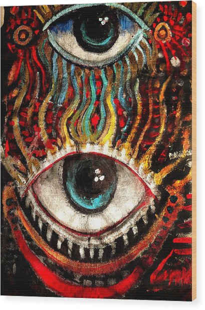 Eyes On You Wood Print