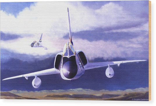 F-106a Head-on Wood Print