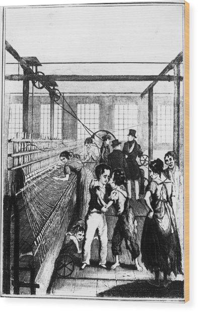 Factory Boys Wood Print by Rischgitz