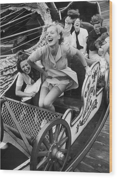 Fair Fun Wood Print by Kurt Hutton