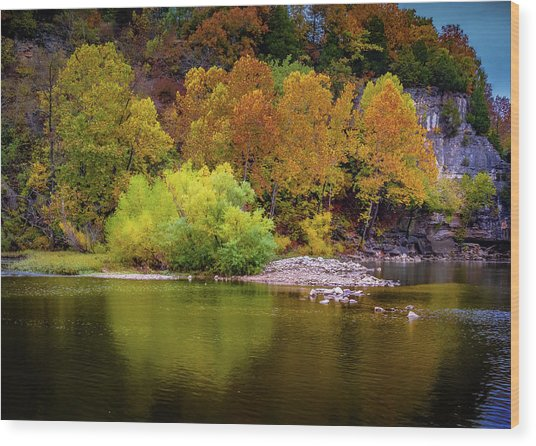 Fall Colors Of The Ozarks Wood Print