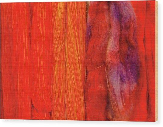 Fall Fibers 3 Wood Print