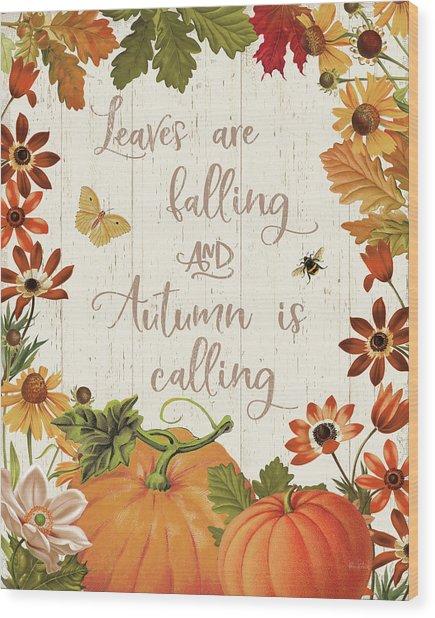 Fall Garden IIi V2 Wood Print by Katie Pertiet