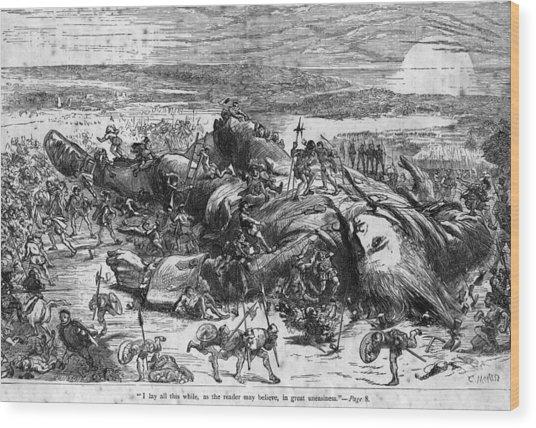 Fallen Giant Wood Print by Hulton Archive