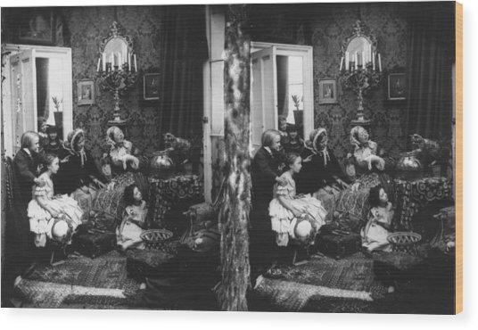 Family Scene Wood Print by London Stereoscopic Company