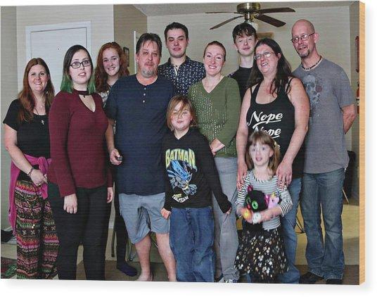 Family2 Wood Print