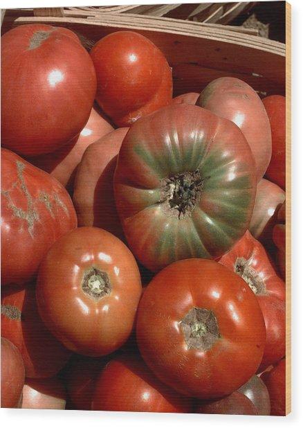 Farm-grown Tomatoes In New Paltz, N.y Wood Print