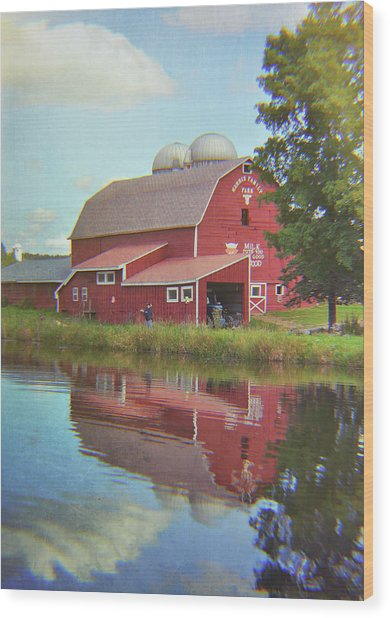 Farm Reflection Wood Print by JAMART Photography