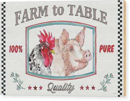 Farm Signs I Wood Print