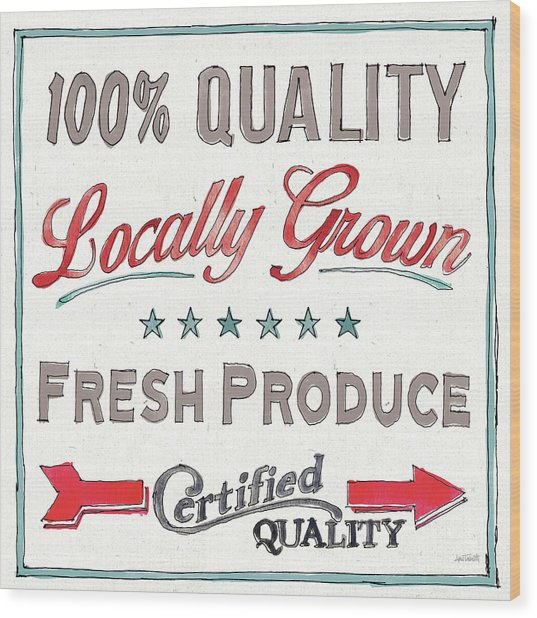 Farm Signs Vi Wood Print