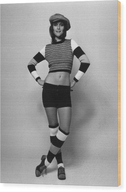 Fashion Stripes Wood Print by Evening Standard