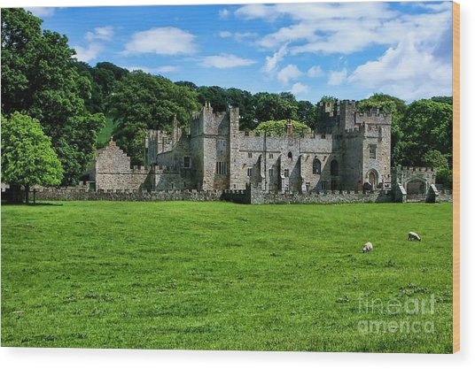 Featherstone Castle Wood Print