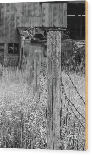 Fence Post Wood Print