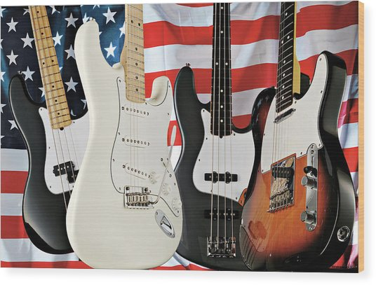 Fender 2008 American Standard Series Wood Print by Guitarist Magazine