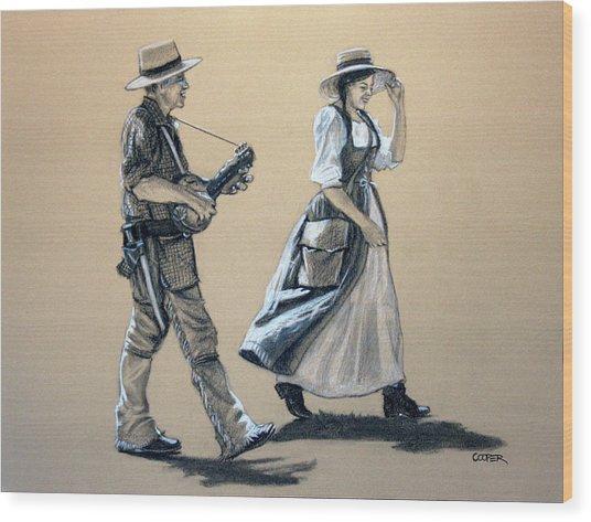 Fiddler's Daughter Wood Print