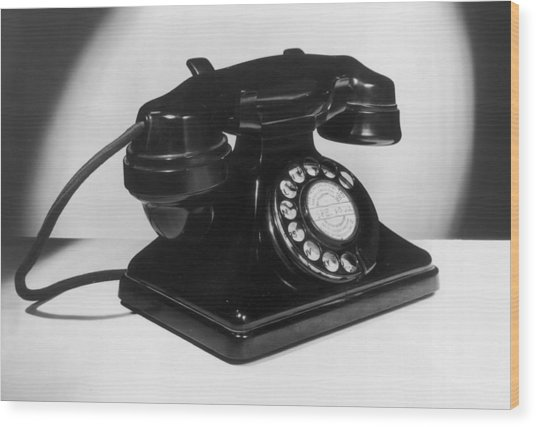 Fifties Telephone Wood Print by Fox Photos
