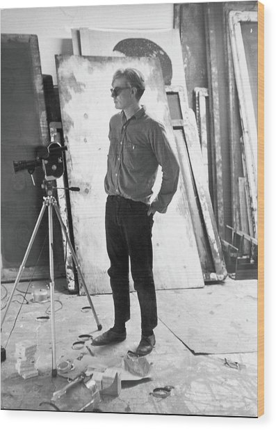 Filming Taylor Meads Ass Wood Print by Fred W. Mcdarrah