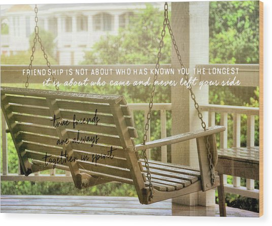 Find Perspective Quote Wood Print