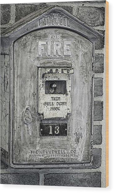 Firebox Wood Print