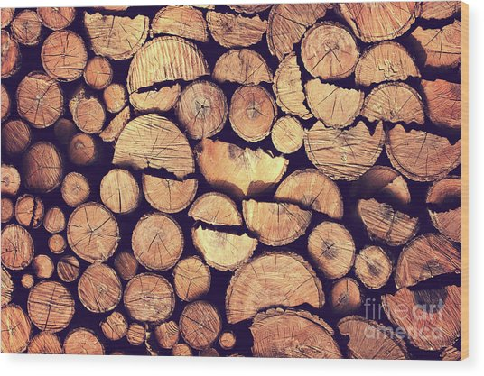 Firewood Logs Wood Print