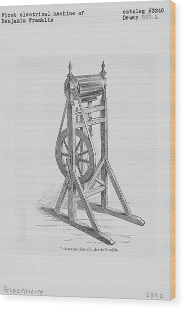 First Electrical Machine Of Benjamin Wood Print by Kean Collection