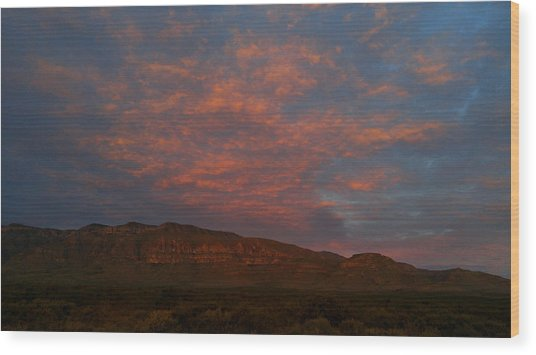 First Light Over Texas 3 Wood Print