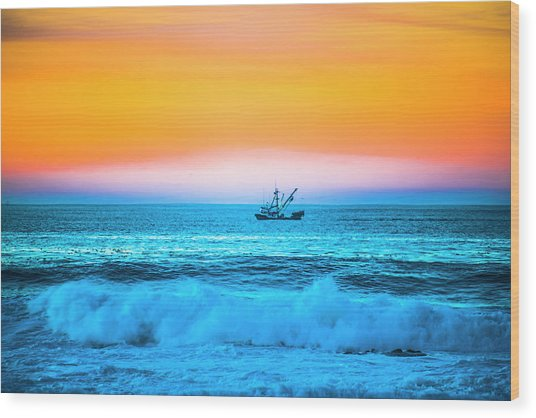 Fishing Boat Wood Print by Fernando Margolles