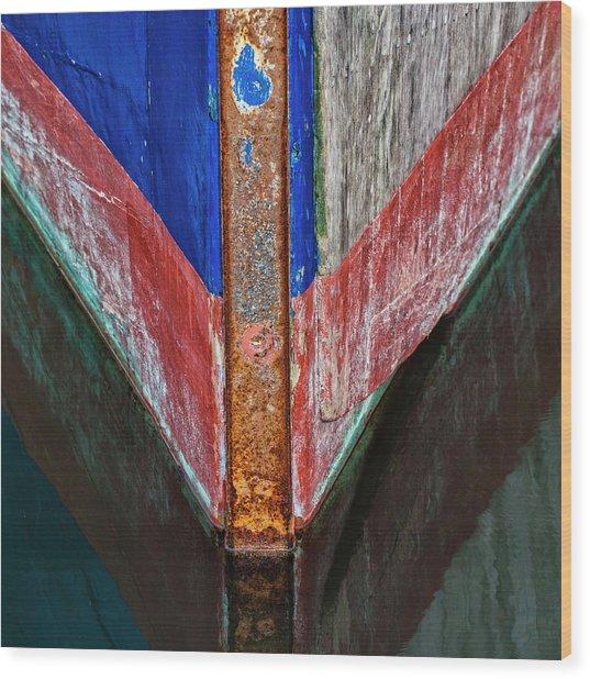 Fishing Boat Prow Wood Print