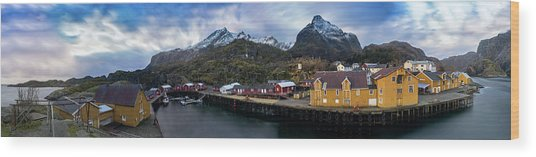 Fishing Village A On Lofoten Wood Print