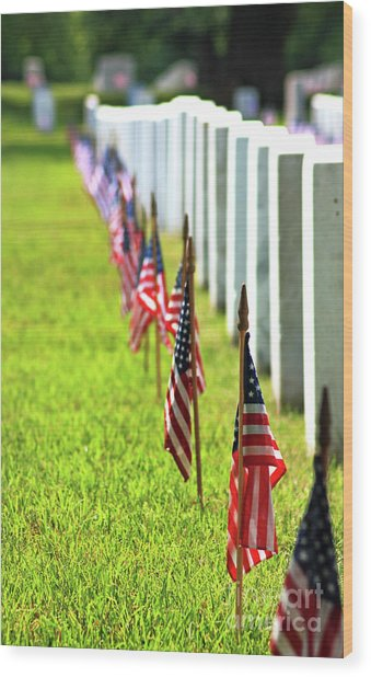 Wood Print featuring the photograph Flags In by Patti Whitten