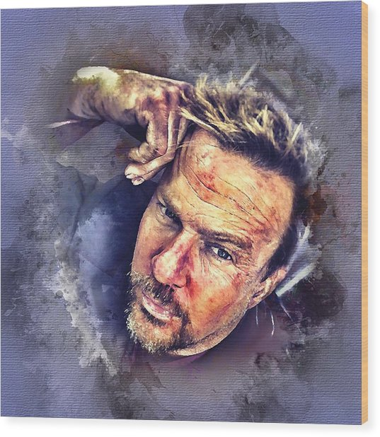 Flanery Watercolor Wood Print