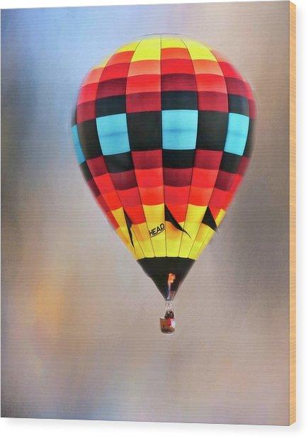 Flight Of Fantasy, Hot Air Balloon Wood Print