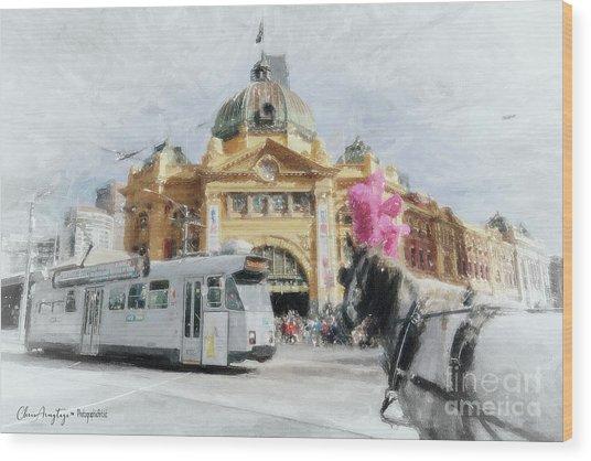 Flinders Street Station, Melbourne Wood Print