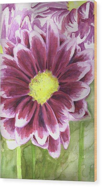 Flor Wood Print