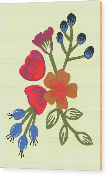 Flora, Cut Paper Wood Print