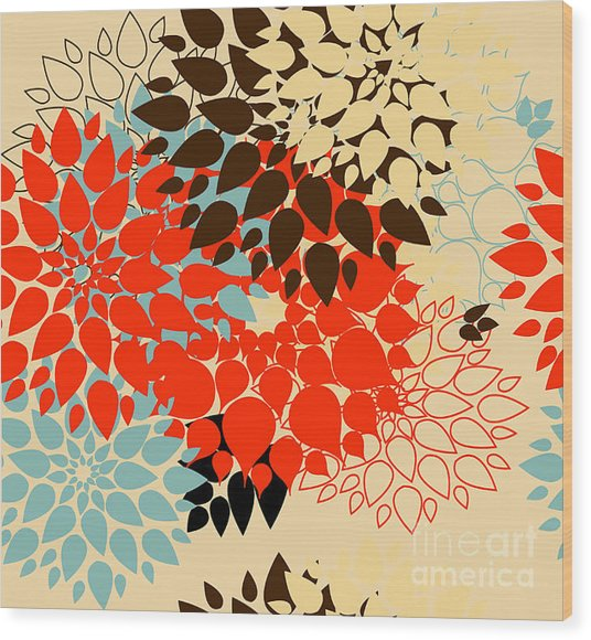Floral Background. Summer Colour Wood Print